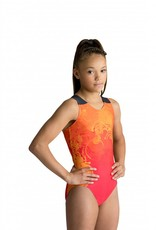 MotionWear 1297-812-Gym Tank Leotard-WATERMELON