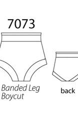 MotionWear 7073-497-Adult Boycut Banded Hi-Waist Briefs-BLACK
