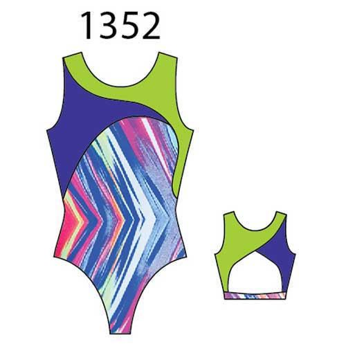 MotionWear 1352-604-Gym Cross Over Open Back leo-TO THE POINT