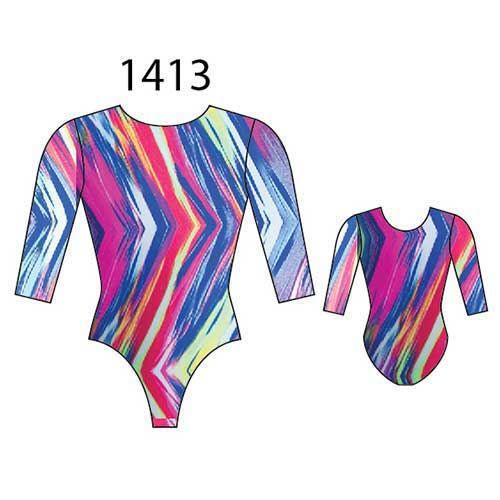 MotionWear 1413-604-3/4 Sleeve Gym Leotard-TO THE POINT