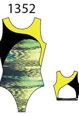 MotionWear 1352-551-Gym Cross Over Open Back Leo-SYNERGY