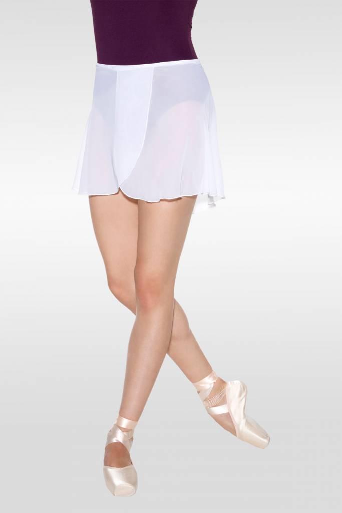 SoDanca SL66-Nany Crepe Wrap Skirt-BLACK
