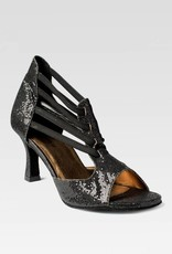 "SoDanca BL176-RAFA-Ballroom Shoes 2.5"" Suede Sole Sparkle Canevas-BLACK"