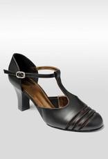 "SoDanca BL186-RAELLA-Ballroom Shoes 2.5"" Suede Sole Leather Upper-BLACK"