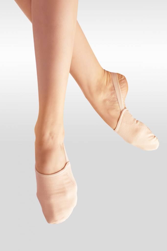 SoDanca BA45-Stretch Canvas half Shoe With Suede Sole