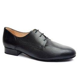 Merlet HEROLD-Ballroom Men Shoes 1'' Suede Sole Metis Leather-BLACK