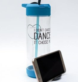Covet Dance IDCD-WB-I Didn't Choose Dance Mobile Kickstand Water Bottle-BLUE