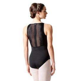 Lulli Dancewear LUF-547-Floral Lace Camisole Leotard-BLACK