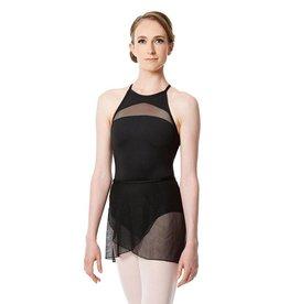 Lulli Dancewear LUF-552-Mesh Wrap Skirt-BLACK