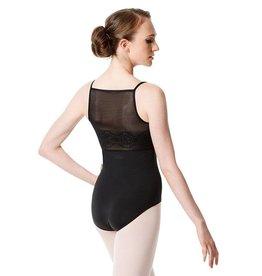 Lulli Dancewear LUF-556-Camisole Leotard Deco Mesh Back-BLACK