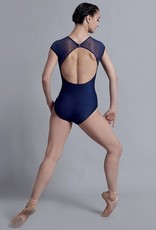 Ballet Rosa GLADY'S-Cap Sleeve Leotard Front Lace And Stretch mesh