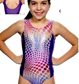 Basic Moves GY5864-Gym Tank Leotard-PNK/PURPLE
