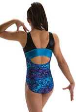 MotionWear 1654-423-Gym Front Eclipse Open Back Leotard-RIVER BLUE-LA