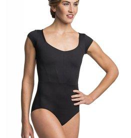 AinslieWear 1036-Rita Cap Sleeve Leotard-BLACK