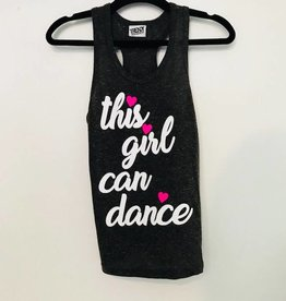 Trendy Trends GD2004-This Girl Can Dance Tank-BLACK