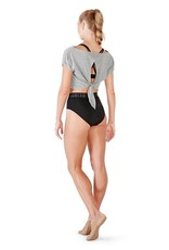 Bloch FT5020-ROMY-Open back Crop Tee-GREY