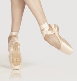 Wear Moi Omega-U Shape Pointes Shoes With Elastic Binding & Satin Ribbons-SALMON