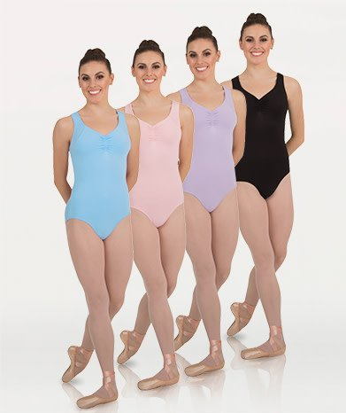BodyWrappers P1026-Curve Back Tank Leotard-BLACK
