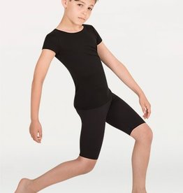 BodyWrappers B196-Boy Professional Above The- Knee Length Pant-BLACK