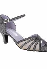 Merlet DANO-1446-817-Ballroom Shoe 2'' Suede Sole Silver Light Leather