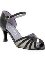 "Merlet SANO-1300-001-Ballroom Shoes 2.5"" Suede Sole Metis Leather-BLACK"
