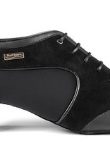 "Portdance PD014PRO-Ballroom Shoes cuban heel 1.5"" Suede Sole-BLACK"