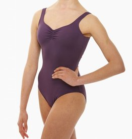 Intermezzo 31232-37-Pinch Front And Back Camisole Leotard Adult-BLACK