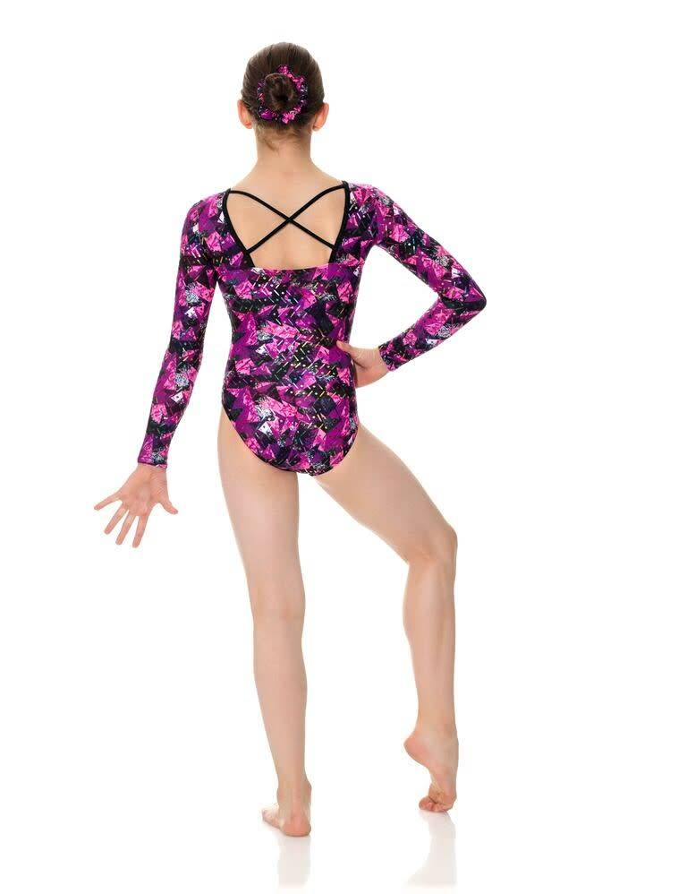 Mondor 17852-Long Sleeve Gym leotard-MAUVE