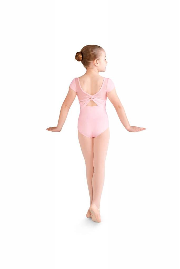 Bloch CL9972-Celia Daisy Mesh Bow Back Cap Sleeve Leotard