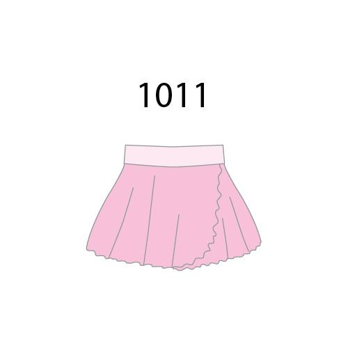 MotionWear 1011-026-Pull-On Warp Skirt Bubbly Pink