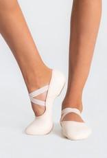 Capezio 2038C-Hamani Leather Ballet Split Sole With 4 Way Stretch Neoprene Insert Child