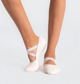 Capezio 2038W-Hamani Leather Ballet Split Sole With 4 Way Stretch Neoprene Insert Adult