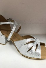 Rummos R150-069-45-Ballroom Shoes 1.5'' Suede Sole-SILVER LATHER