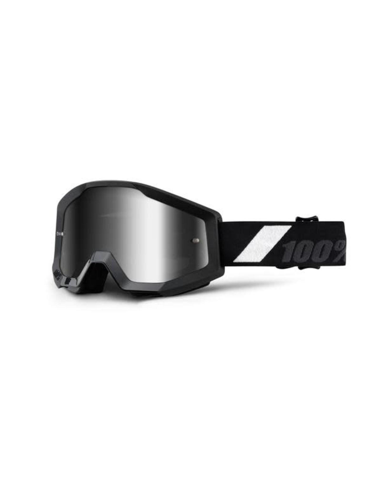 100% Apparel, Face, Goggles - 100% Strata Goliath, Mirrored, Silver Lens