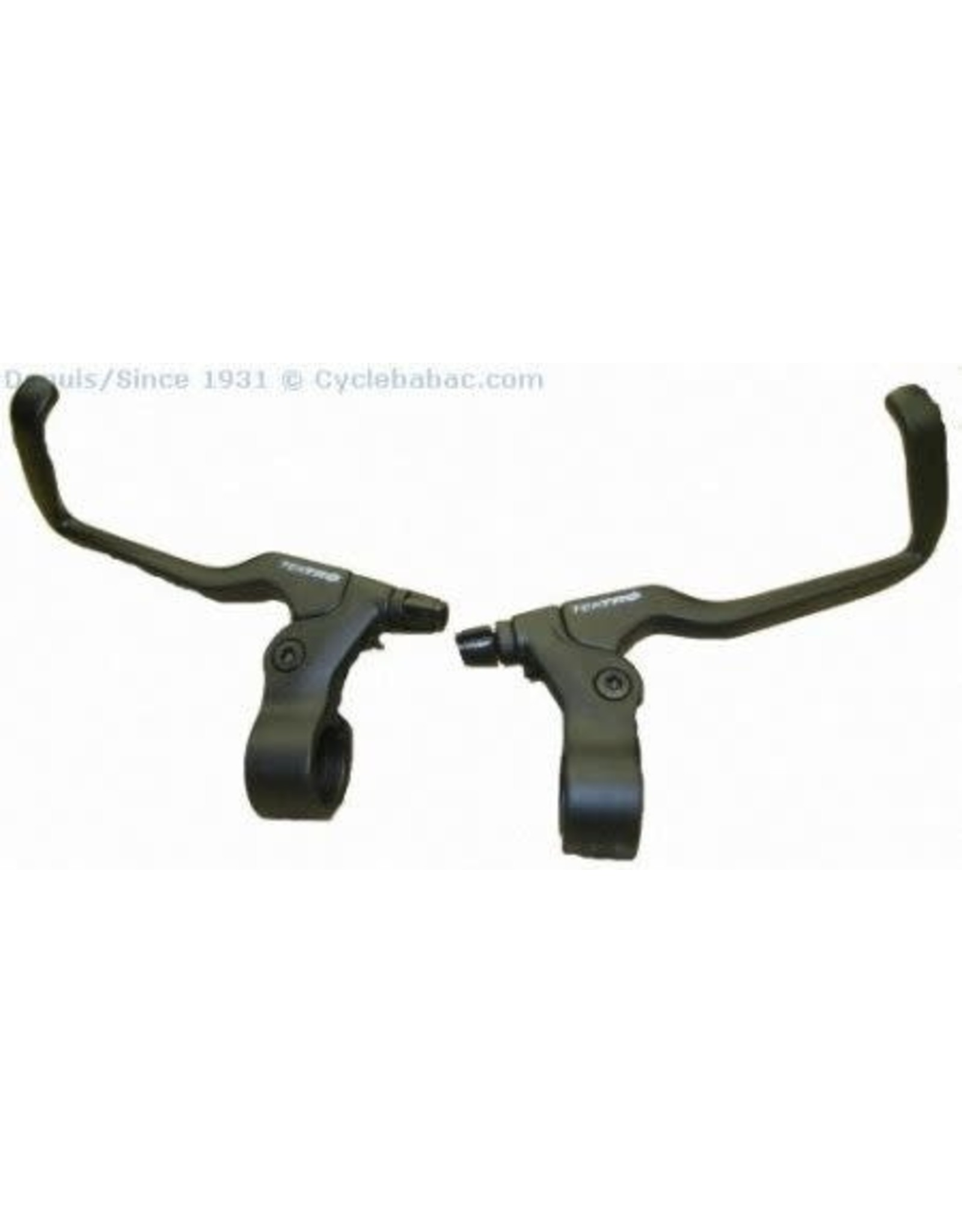 Tektro Brake, Levers, Pair - Tektro, Flat Bar w/ Bullhorn Reach Ext., Short Pull, All Black