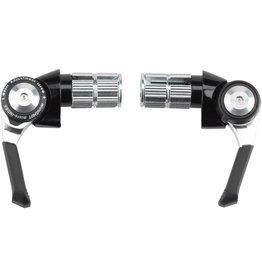 Microshift microSHIFT Bar End Shifter Set, 8-Speed Road, Double/Triple, Shimano Compatible, Black