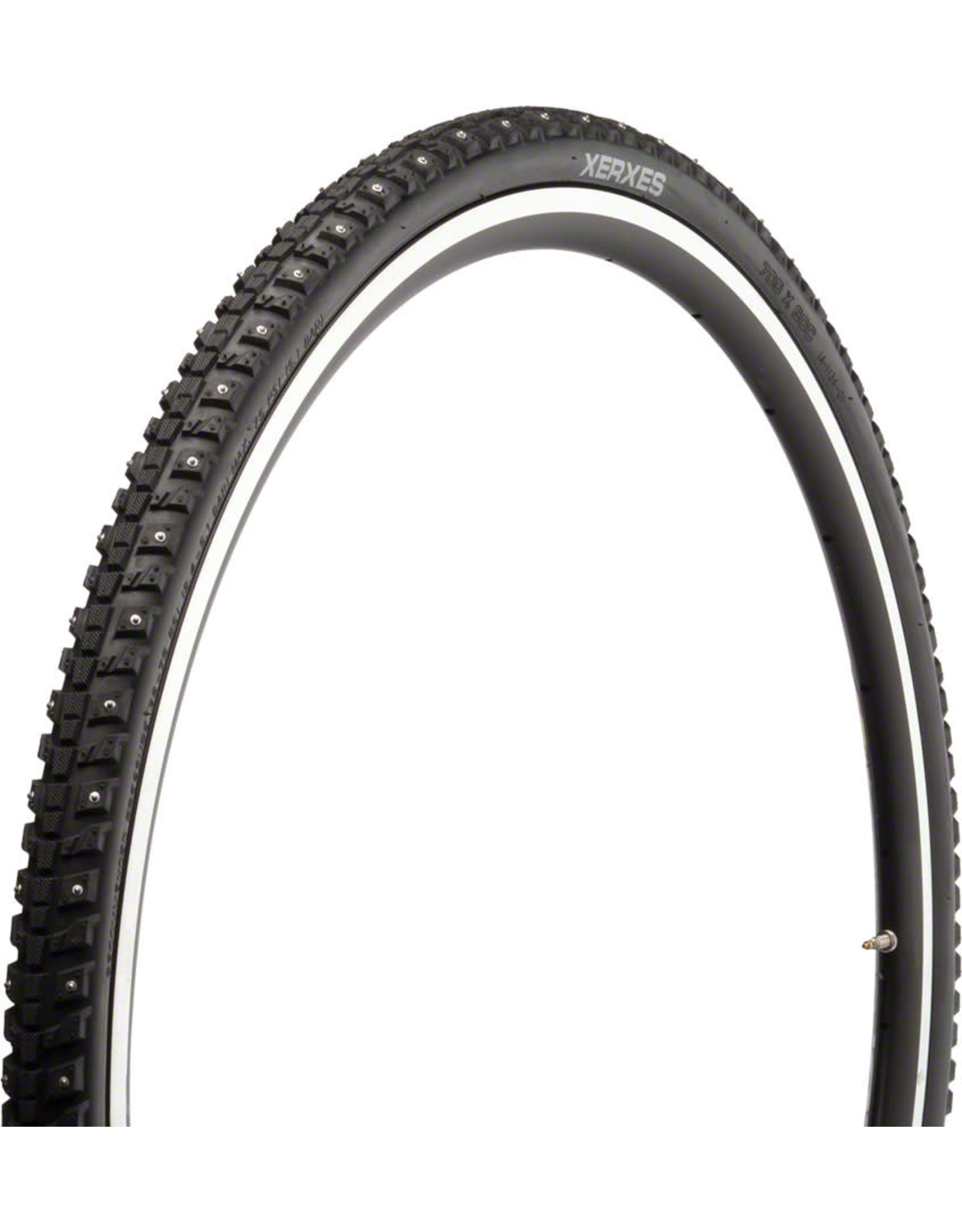 45NRTH 45NRTH Xerxes Tire - 700 x 30, Clincher, Steel, Black, 33tpi, 140 Carbide Steel Studs