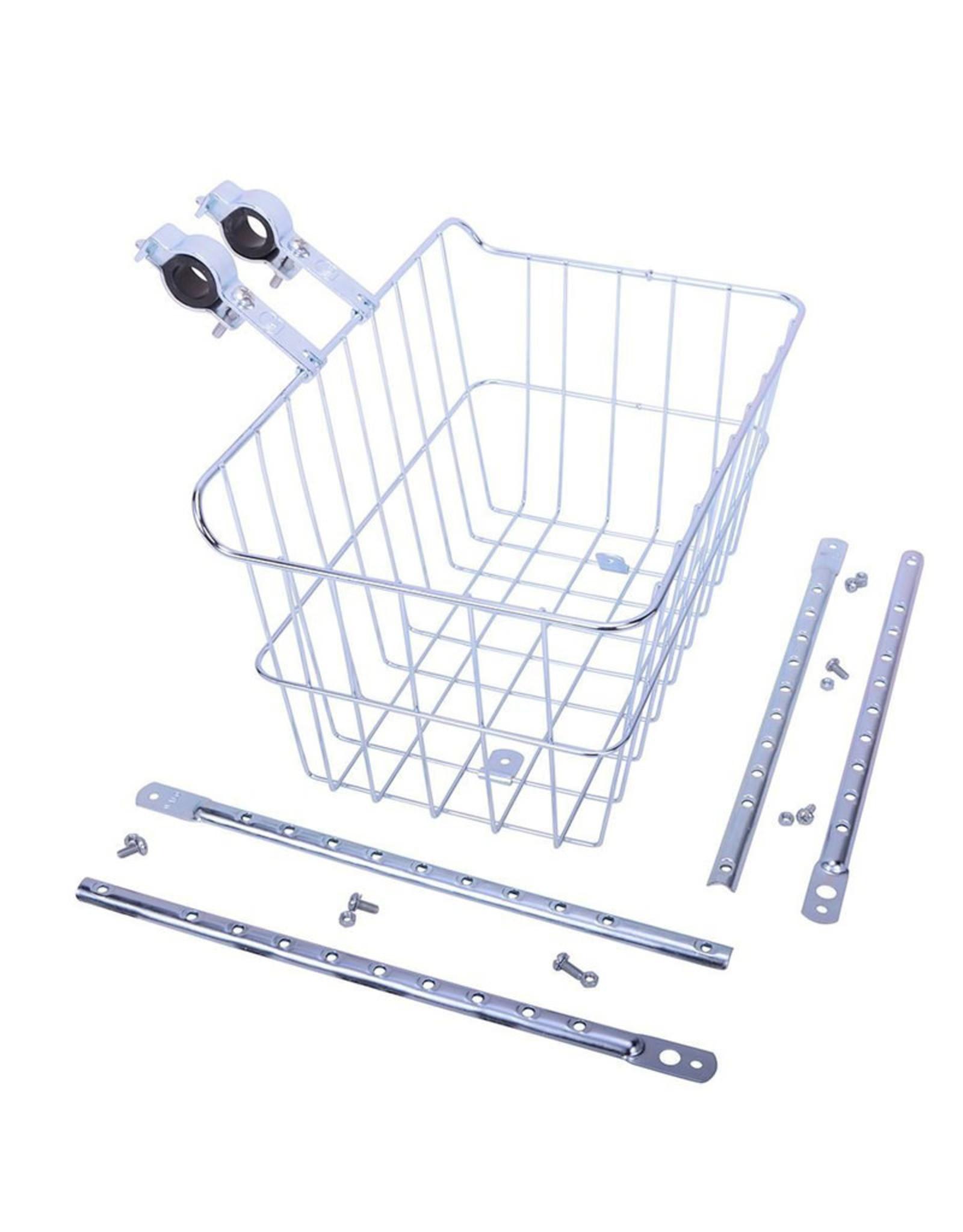 "Wald Basket, Front - Wald 1512, 14.5"" x 9"" x 7"", Multi-fit, Silver"