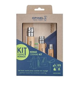 Knife set, Opinel Nomad Cooking kit, Stainless steel blades, beech handle