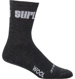 Surly Surly Logo Wool Socks - 5 inch, Black, X-Large