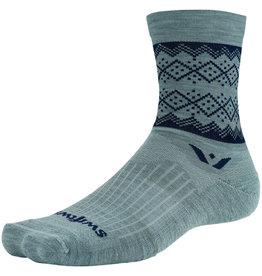 Swiftwick Swiftwick Vision Five Winter Lodge Socks - 5 inch, Heather Navy, X-Large