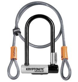Kryptonite Lock, U - Kryptonite Kryptolok Mini 7'' w/ 4ft. Cable Black/Grey