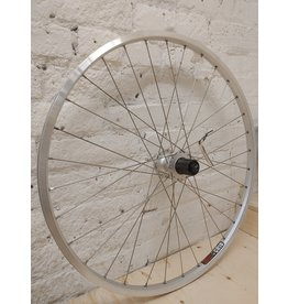 """Natural Cycleworks Handbuilt Wheel - Sun CR-18 26"""" Silver - Shimano Deore Rear - Double Butted Spokes"""