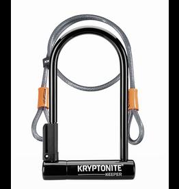 Kryptonite Lock, U - Kryptonite Keeper 12 STD w/ 4' Flex Cable Black