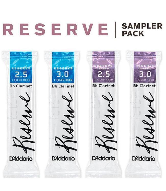D'Addario D'Addario Reserve Bb Clarinet Reed Sampler Pack