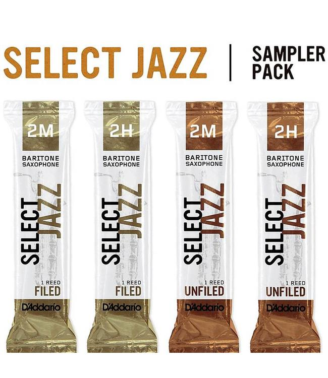 D'Addario D'Addario Select Jazz Baritone Saxophone Reed Sampler Pack 3