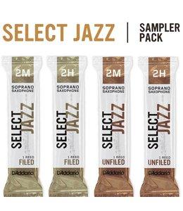 D'Addario D'Addario Select Jazz Soprano Saxophone Reed Sampler Pack 3