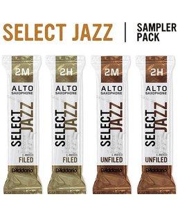 D'Addario D'Addario Select Jazz Alto Saxophone Reed Sampler Pack 3