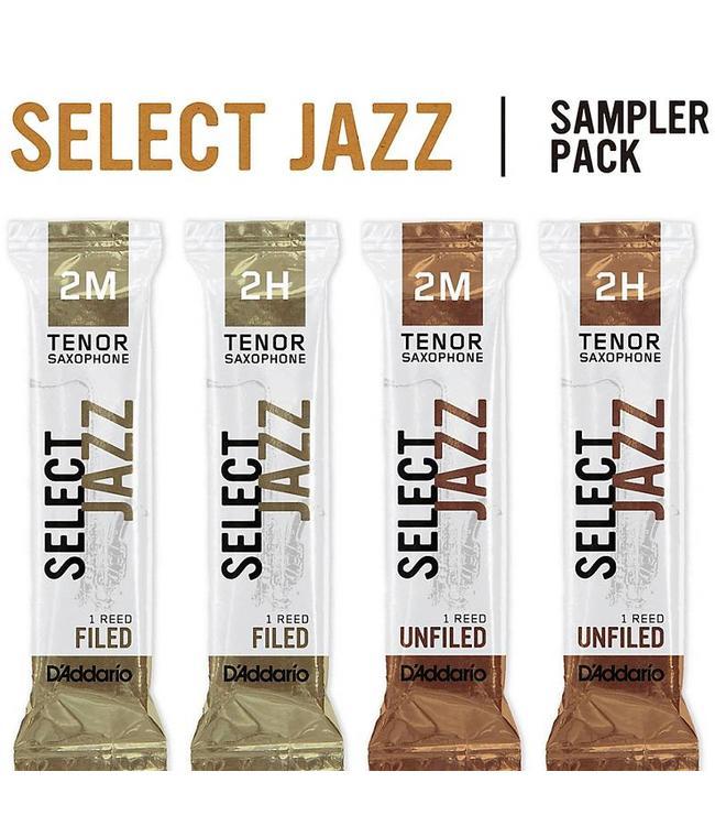 D'Addario D'Addario Select Jazz Tenor Saxophone Reed Sampler Pack 3
