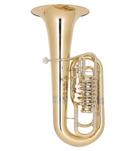 Miraphone Miraphone F481B-5V (5 Valves in the Right Hand) Elektra F Tubain Yellow Brass